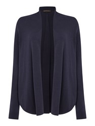Repeat Cashmere Open Front Round Hem Cardigan Ink