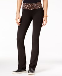 Material Girl Active Juniors' Lace Waist Yoga Pants Only At Macy's Black