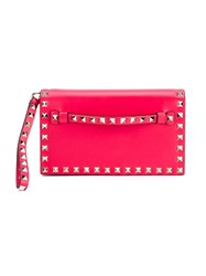 Valentino Garavani 'Rockstud' Clutch Pink And Purple