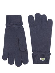 Lacoste Knitted Gloves Navy