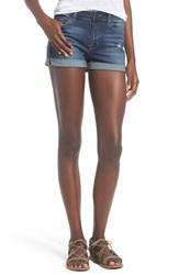 Junior Women's Bp. High Rise Denim Shorts Rugged Blue