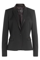 Barbara Bui Wool Blazer With Leather Black