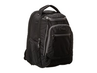 Kenneth Cole Reaction 9 Double Gusset Top Zip Ez Scan Computer Backpack Black Backpack Bags