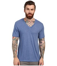 Alternative Apparel Boss V Neck Tee Eco True Ocean Blue Men's Short Sleeve Pullover