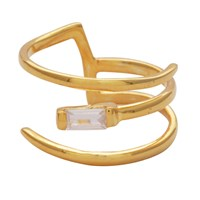 Carousel Jewels Crystal And Gold Wrap Ring