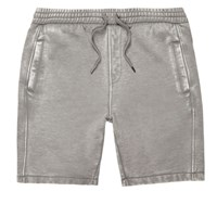 River Island Mensgrey Burnout Casual Shorts
