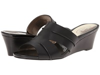 Circa Joan And David Shanna Black Leather Women's Wedge Shoes