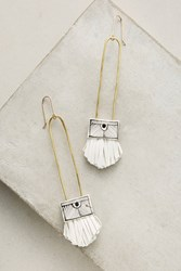 Anthropologie Regalo Tassel Earrings White