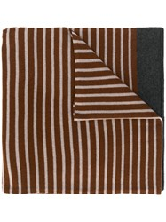 Sofie D'hoore Striped Knit Scarf Brown