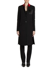 Givenchy Two Button Wool Coat Black