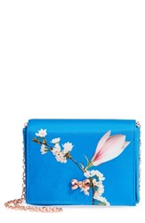 Ted Baker London Harmony Print Evening Bag Blue Bright Blue