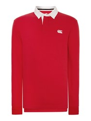 Canterbury Of New Zealand L S Plain Rugby Red