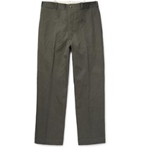 Chimala Wrinkled Cotton Twill Chinos Gray Green