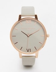 Olivia Burton Big Dial Grey And Gold White Face Watch