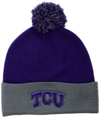 Top Of The World Tcu Horned Frogs 2 Tone Pom Knit Hat
