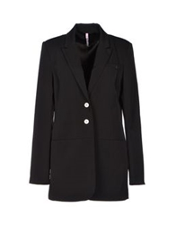 Scee By Twin Set Full Length Jackets Black