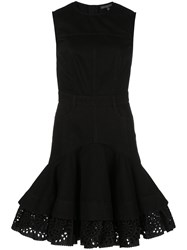 Alexander Mcqueen Fit And Flare Short Dress Black