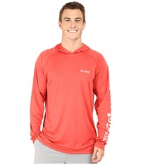 Columbia Terminal Tackle Hoodie Sunset Red White Logo Men's Sweatshirt Orange