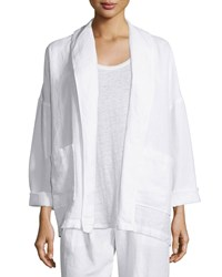 Eileen Fisher Heavy Linen Jacket With Pockets Petite
