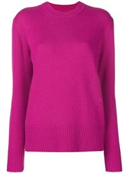 Calvin Klein Long Sleeve Fitted Sweater Pink And Purple