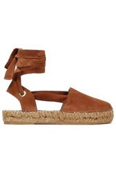 Iris And Ink Woman Suede Espadrilles Camel