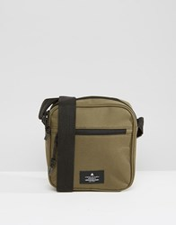 Asos Flight Bag In Khaki With Branded Patch Khaki Green