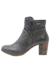Mustang Ankle Boots Graphit Dark Grey
