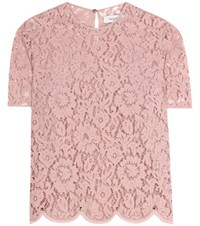 Valentino Lace Top Pink