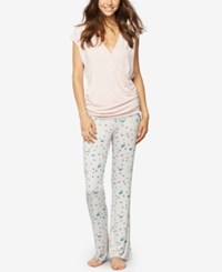 A Pea In The Pod Printed Maternity Pajama Pants