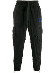 Off White Mid Rise Cargo Trousers Black