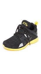 Apl Athletic Propulsion Labs Ascend Sneakers Black Racing Yellow Silver