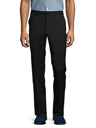 Calvin Klein Solid Woolen French Bearer Pants Black
