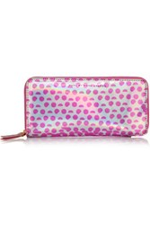 Marc By Marc Jacobs Slim Zippy Faux Patent Leather Wallet Pink