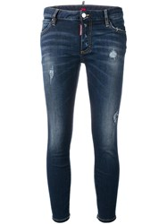 Dsquared2 Cropped Twiggy Jeans Blue