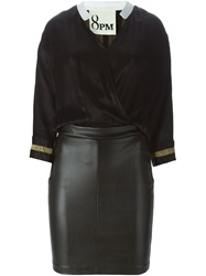 8Pm Contrasting Fitted Bottom Shirt Dress Black