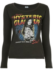 Hysteric Glamour Web Of Sin Print Blouse Brown
