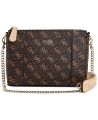 Guess Kamryn Small Crossbody Brown