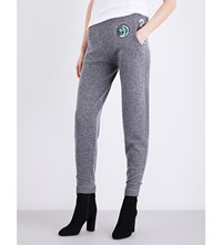 Burberry Rivertaro High Rise Wool And Cashmere Blend Jogging Bottoms Mid Grey Melange