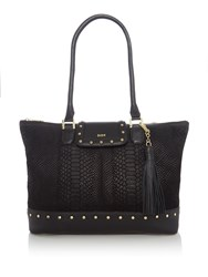 Biba Studded Leather Tote Black