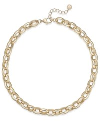Charter Club Gold Tone Large Link Necklace Created For Macy's