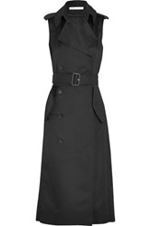 Victoria Beckham Twill Trench Coat Black