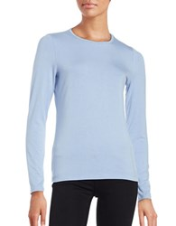 Lord And Taylor Long Sleeve Roundneck Tee Blue Orbit