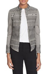 Women's Superfine 'Rap' Ribbon Trim Stretch Cotton Jacket