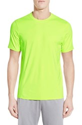 Men's Bpm Fueled By Zella 'Celsian Vent' Moisture Wicking T Shirt Yellow Xray