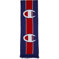 Champion Reverse Weave Blue And Red Logo Scarf
