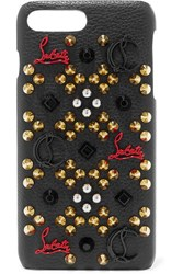Christian Louboutin Loubiphone Embellished Leather Iphone 7 And 8 Plus Case Black