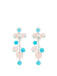 Irene Neuwirth Diamond Opal Turquoise And 18Kt Gold Earrings White Gold