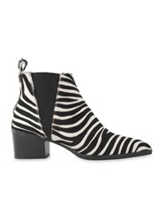 Whistles Belmont Zebra Chelsea Boot Black White