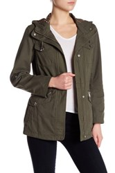 Bcbgeneration Hooded Roll Sleeve Anorak Green