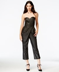 Rachel Rachel Roy Faux Leather Draped Jumpsuit